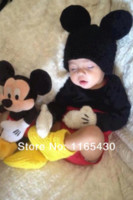 Wholesale Free Post Lovely Minnie Mickey Mouse Baby Girls Boys Photography Prop Toddler Knit Crochet Beanie Animal Hat Cap Baby Costume