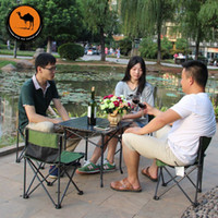Wholesale Five piece aluminum camel portable folding tables and chairs for outdoor picnic tables and chairs Coffee Sets