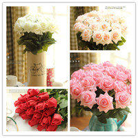 Wholesale High Quality Artificial Rose Bouquet Silk Flowers Blooms Arrangements Floral Home Decor Wedding Bouquets colors Fake Flower