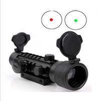 Wholesale 2x42 Red and Green Tri Rail Dot Sight Illuminuted w Rail for Rifle Scope Hunting
