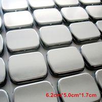 Wholesale 10 Silver Tin storage box DIY blank Metal organizer box organizador caixa organizadora Casket Novelty households