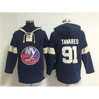 Wholesale John Tavares Hockey Sports Jacket Dark Blue Islanders Mens Hockey Hoodies Athletic Apparel Top Hoodies Jacket Cheap Hooded Sweatshirts