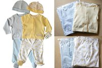 baby pants with feet - Spring Autumn style newborn sets three piece clothes baby hat long T shirt pants with foot cover design M M M mix sizes
