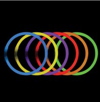 Wholesale Fluorescent DIY Necklaces Multi Color night light sticks multi color led party favors glow sticks LED wand party favors