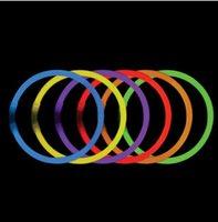 Wholesale Fluorescent Necklaces Multi Color night light sticks multi color led party favors glow sticks LED wand party favors