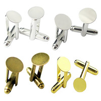 Wholesale Beadsnice brass cufflink blanks pad size mm round handmade cufflink mens cuff link findings ID