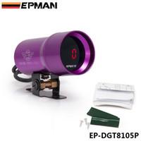 Wholesale EPMAN Micro Digital all Electronic Rev Counter Tachometer Gauge Rev Counter Gauge cyl mm NEW Purple EP DGT8105P