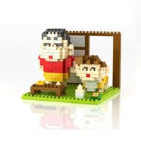 Wholesale LOZ Diamand Block Crayon Shin Chan Series Educational Building Blocks Assembly Kids DIY Toy Gifts Model Toys