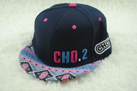 Wholesale New fashion baseball caps with letters CHO graffiti printed hip hop dance baseball hat for man and women B0483