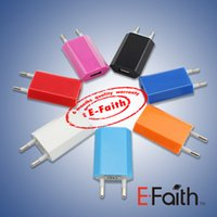 Wholesale Colorful EU US Plug USB Wall Charger AC Power Adapter Home Charger for iphone G S G S C Samsung Galaxy S3 S4 S5