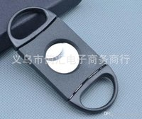 Wholesale Pocket Cigar Cutter Plastic Stainless Steel two Blades Scissors Cigar knives good gifts