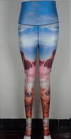 Wholesale Summer style Plus size pants Hot exercise classes yoga wear Unicorn Galaxy print fitness stretch running leggings YIWU LAIMAI