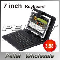 Wholesale inch Universal Keyboard PU leather Case Cover with Micro USB Keyboard for Q88 Tablet PC by DHL Fedex
