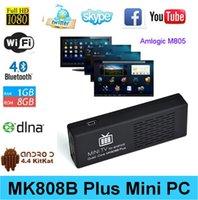 Wholesale Vensmile mk808 MK808B Plus Android TV dongle Amlogic M805 Quad Core G GB GB Bluetooth p full hd android