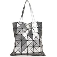 art geometry - Fashion Lady Origami Art Geometry Handbag Women Lucent Laser Effect Tote Bag