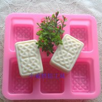 Wholesale Strong New Arrivals rectangular cross Design Six Holes Handmade Silicone Hand Soap Mold
