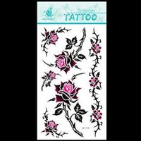 best rose tattoos - best selling Rose Temporary Tattoo Stickers Body Art Supermodel Designs Waterproof Tattoo Cupid Pattern temporary tattoo stencil