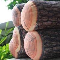 Gros-2015 New Hot oreillers maison de vente Coussin décoration Log Wood Design souple Retour Oreiller de voiture décorer i9879 gros