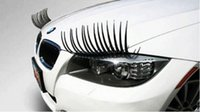 Wholesale Cute Car Styling Stickers Black Eyelashes Vehicle Headlight Decorative Sticker On Car
