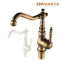 antique stage light - Chak send full bathroom basin faucet hot and cold taps European antique copper heightening basin faucet hole on stage