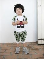 baby boy cloth batman - UPS Fedex free Children Summer batman pattern Sets KIDS Boys cartoon batman outfits BABY Blue Gray short sleeve shirt shorts cloth