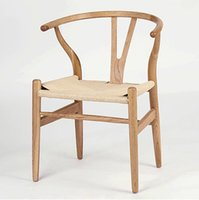 aluminum office chairs - Fashionable furniture solid wood dining chair office chair ancient Y chair leisure designer chair