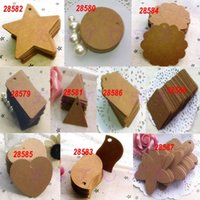 Wholesale Brown Blank Kraft Paper Marked Blank Card Hand Draw Tags Labeled Card
