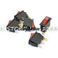 Wholesale 15A VAC Red Indicator Light I O NO OFF P SPST Rocker Switch order lt no track