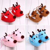 baby deer crib shoes - Lovely Winter Xmas Elk Deer Style Baby Girl Boys Crib Shoes Plush Fleece Shoes