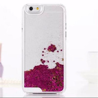 green sand - Liquid Glitter Star Quick sand Case For Iphone S PLUS Clear Transparent Shining Cover DHL