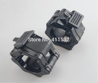 Wholesale 1 Pair quot Barbell Collars Weight Lifting Lock Jaw Collars Standard Crossfit Fitness Gym Easy Lock