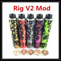batteries tubes - 2016 Newest Doodle Rig V2 Mod Starter Kit In Camouflage Colors with Roughneck RDA Atomizer Clone Battery Tube Mod Vaporizer DHL Free