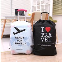Wholesale travel Luggage suitcase cover storage bag case cover Thickening waterproof protective dust cover Portable Travel Accessorie Kit Luggage Suit