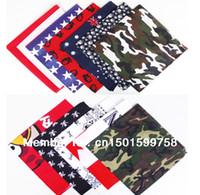 bandanas uk - Cotton Bandanas head wrap scarf wrist band National Flags Camouflage USA UK FLAG SCARF