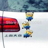 Cheap Nick shade Minion Rush Despicable Me 3M Car Sticker Decal for auto reflections Dave Mark swing relay race team leap E53 M2707