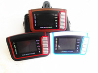 Wholesale Car MP3 MP4 Player FM Transmitter Stereo Wireless quot LCD SD MMC Infrared Remote Multi languages