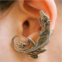 Wholesale Lizard Shaped Ear Cuff Gothic Punk Style Men Women Ear Clip Earring Fashion Jewelry Color EAR