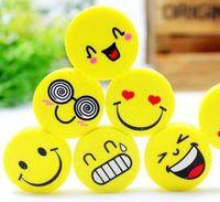 Wholesale Children School supplies cm Lovely Smiling Face Eraser Emoji Eraser ETM17