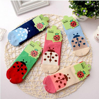beetle colors - Cartoon beetle socks children pure cotton cartoon jacquard socks Colors Christmas baby socks Absorb sweat permeability socks for T