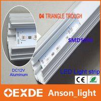 Wholesale 100cm V led light bar W SMD LED Rigid Strip Lights With Transparent Milky Cover Aluminum Bar Cabinet Light