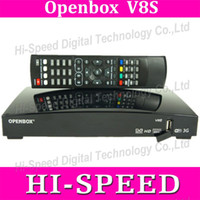 Wholesale 20PCS Original Openbox V8S satellite receiver V8 support xUSB USB Wifi WEB TV Cccamd Newcamd YouTube Weather Forecast Biss Key