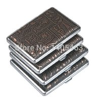 Cheap Egyptian Slim Metal Cigarette Case Box 100's Hold For 14 100mm Cigarettes 308