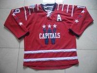 Wholesale Capitals Blank Hockey Jerseys All Teams Hockey Apparel Red Hockey Uniform All Style Cheap Hockey Wears New Arrival Hockey Uniform