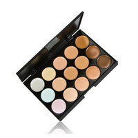 Cheap 2015 Hot sale Wholesale 15 Color Concealer Camouflage Face Cream Makeup Palette Set Make up Concealer Eyeshadow Cosmetic 200sets