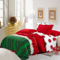 Wholesale Hot Sale Watermelon nature cotton Bedding Set With Lovely Print Bedclothes King Queen Size Home Textile