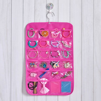 Wholesale 6 layer Jewelry Ornaments Storage Bag Door Wall Hanging Closet Organizer Double Sided Jewelry Bags