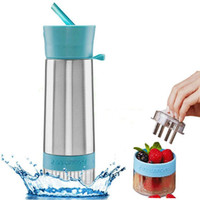 Wholesale New Arrival Stainless Steel Cup Lemon Juice Manual Juicer Juice Cup Artifact Portable Cup Creative Cup HG