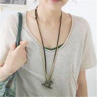 amethyst decor - Small jewelry Korean female models retro small horse long sweater chain necklace lovely wild minimalist decor C021