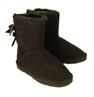 shoes australia - 2015 New Fashion Australia classic short BGG winter boots real leather Bowknot women s snow boots shoes with gift