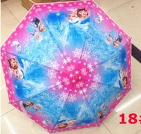 Wholesale 68cm long handle pencil Umbrella Sun rain Children kids women adult umbralla Frozen Despicable Me Series